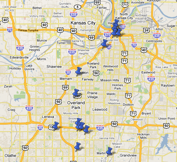 Sample of Blue Gurus Clients in Kansas City