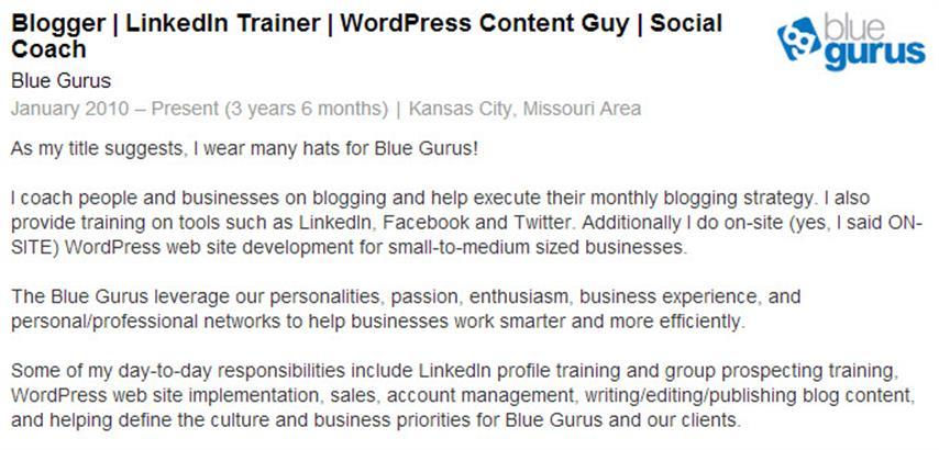 Blue Gurus Job Details