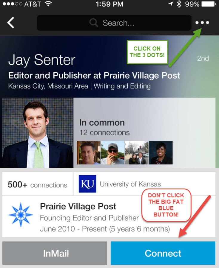 How To Personalize Invitations On LinkedIn's Mobile App – Blue Gurus
