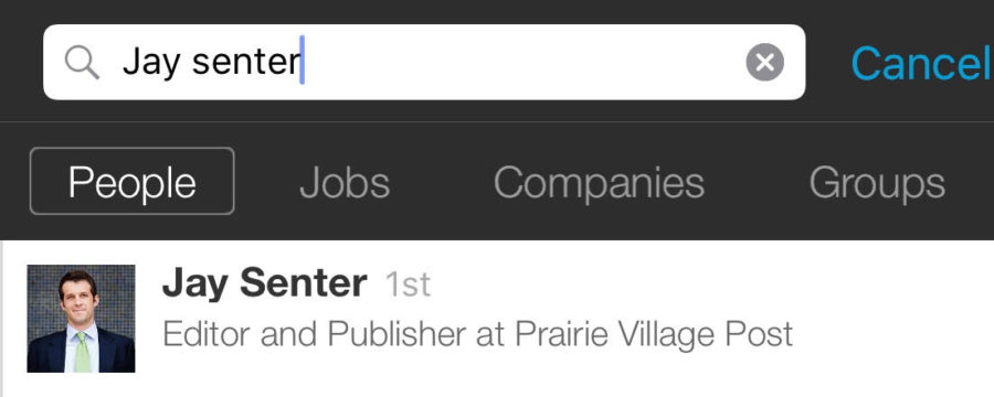 LinkedIn Mobile Search