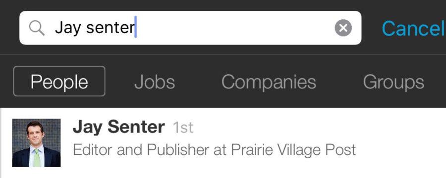 LinkedIn Mobile Search