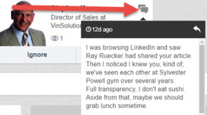 How to see a LinkedIn message