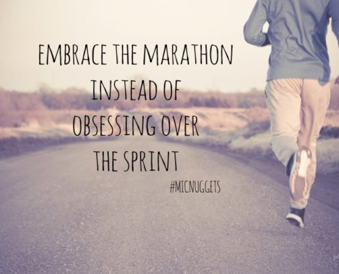Embrace the marathon