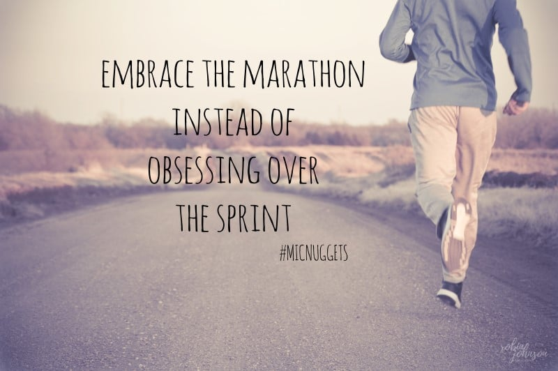 Embrace the marathon