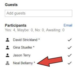 Google Calendar : Optional Attendee