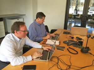 Dave Scott and David Hollingsworth Blogging