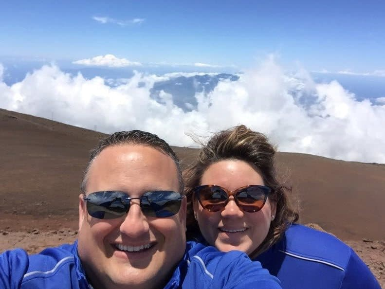 mic and missy Haleakalā Summit