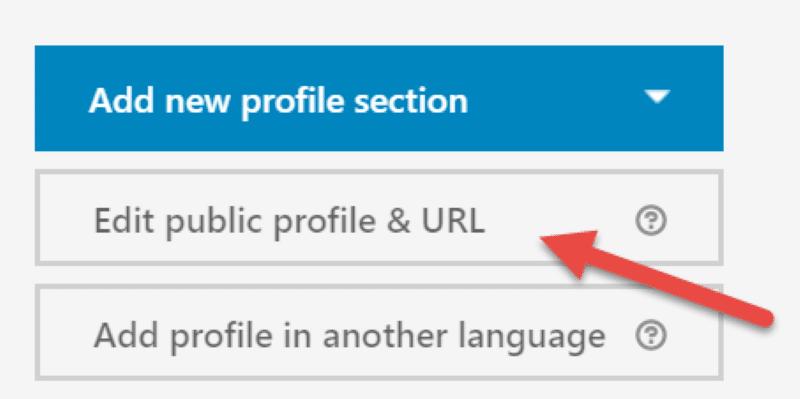LinkedIn Public profile URL