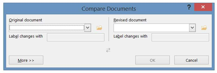 Blue Gurus: Microsoft Word's Compare Feature