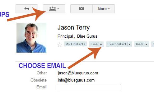 Blue Gurus: Google Contact Group