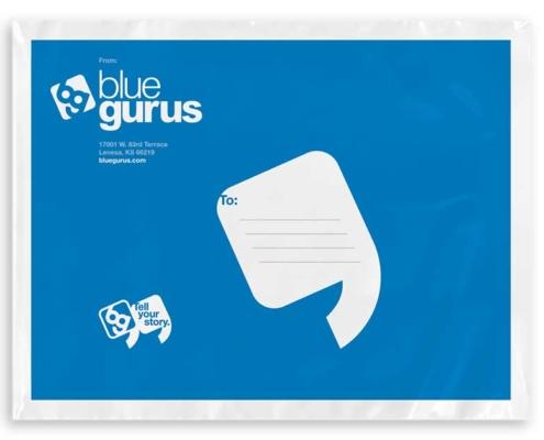 Sticker Mule: Blue Gurus Poly Bags