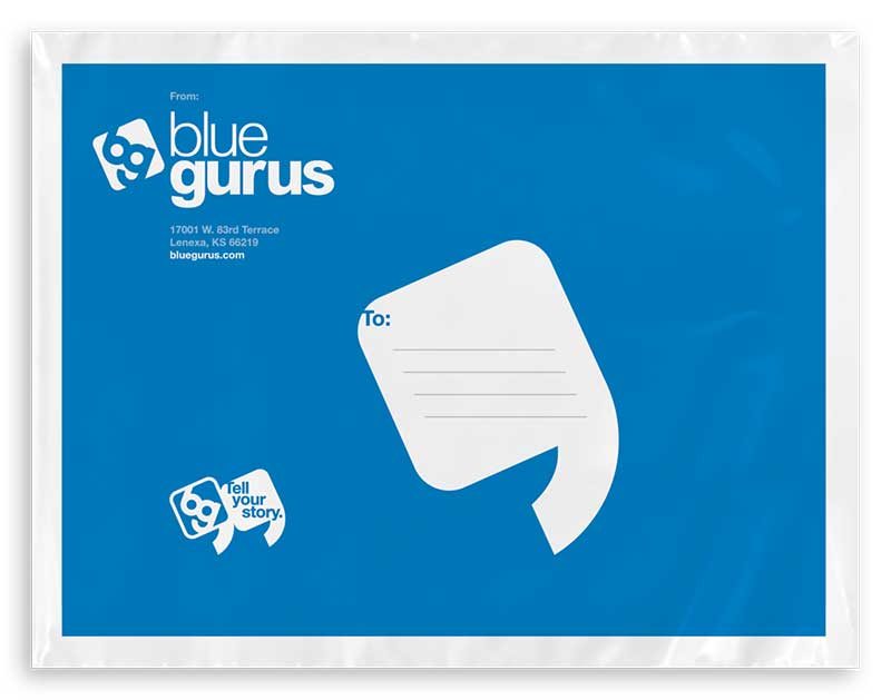 Sticker Mule: Blue Gurus Poly Bags