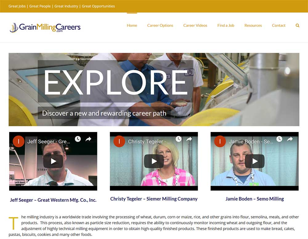 Blue Gurus: Grain Milling Careers Website