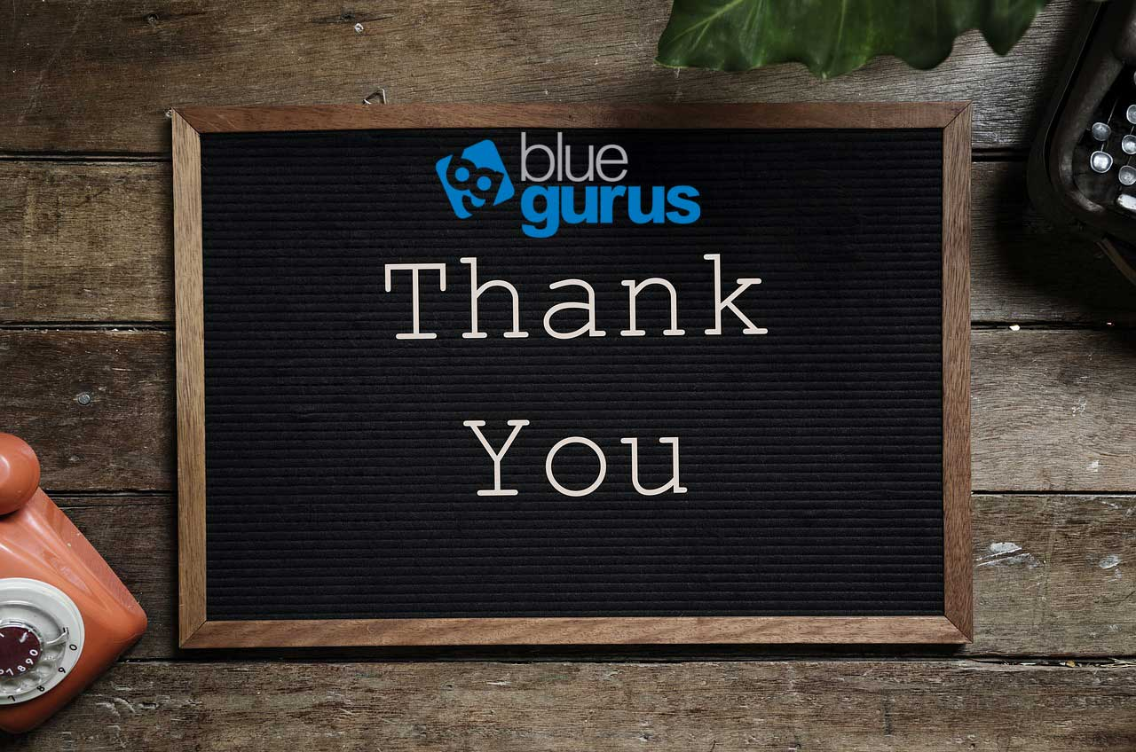 Blue Gurus: Thank You