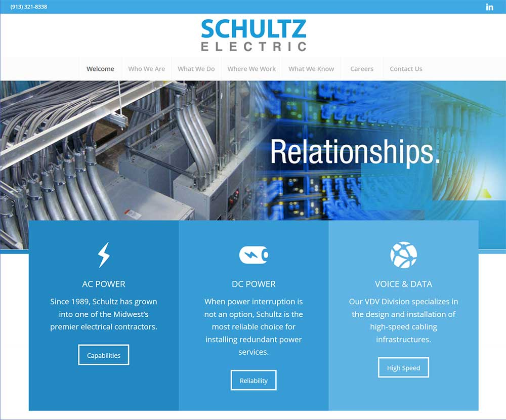 Blue Gurus: Schultz Electric Website
