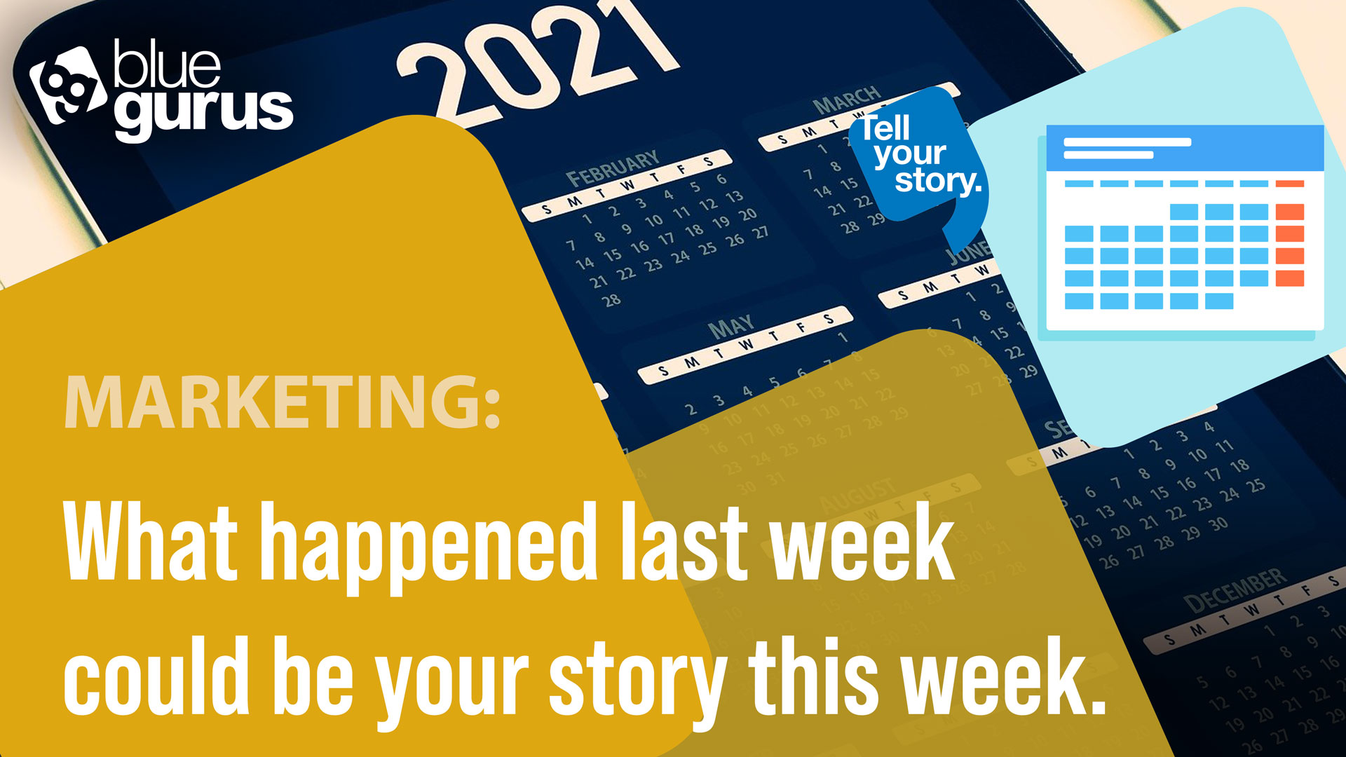 What happened LAST week could be your story THIS week.