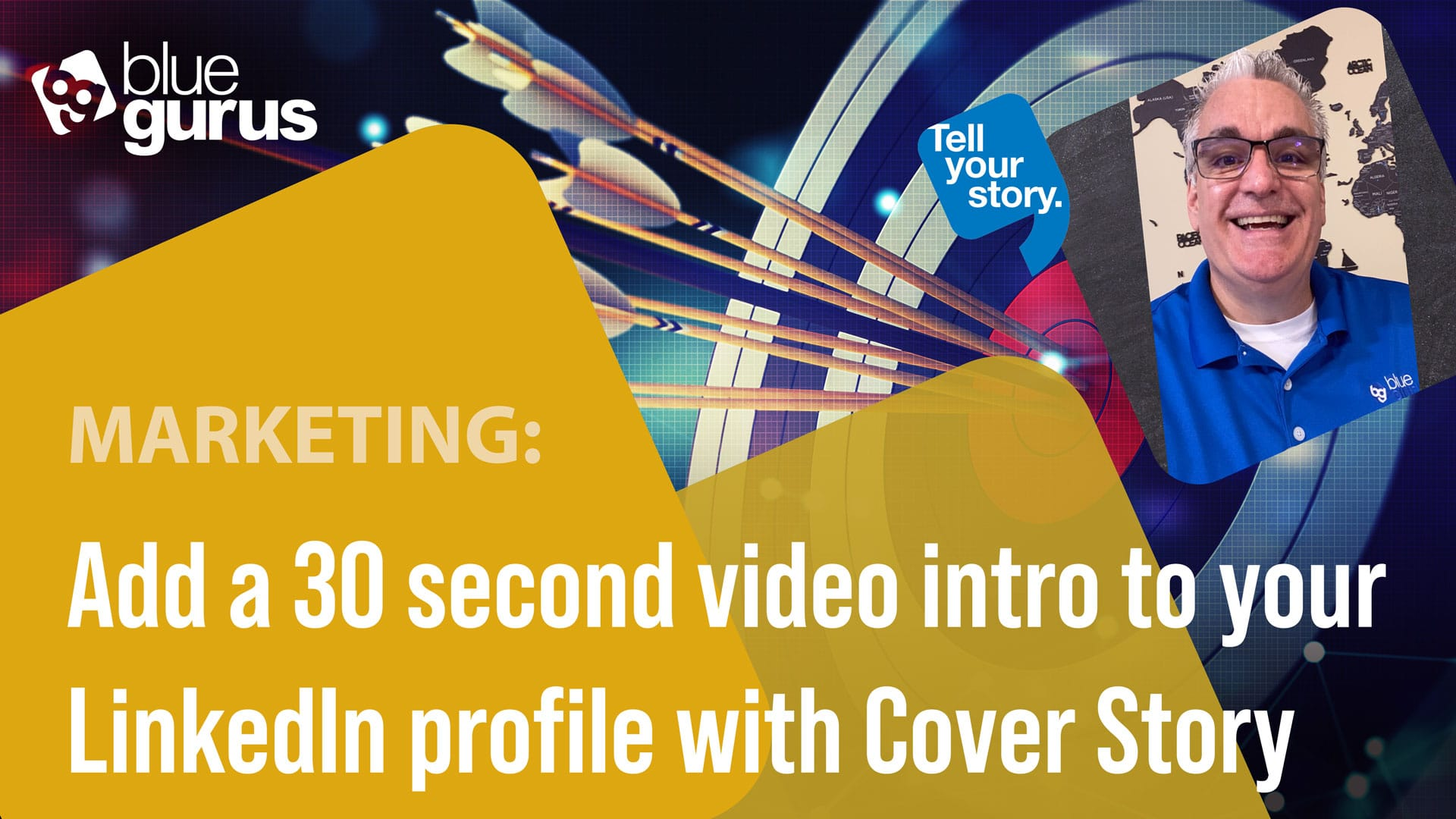 LinkedIn Cover Story - Record a 30 second intro for people visiting your LinkedIn profile!